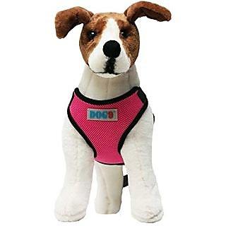Mesh Dog Car Harness (Pink, Medium)