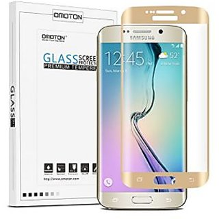 OMOTON Samsung Galaxy S6 Edge Screen Protector - Full Coverage Tempered Glass Screen Protector for Samsung Galaxy S6 edg