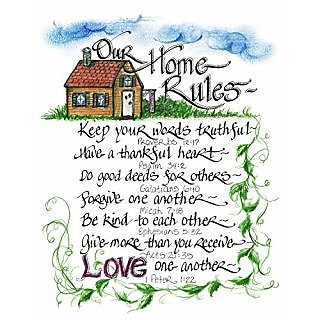 LPG Greetings Our Home Rules Decor, Multi