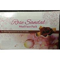 Khadi Herbal Rose & Sandal Mud Face Pack For Skin Pigmentation & Anti Wrinkle 1 X 25 Grams