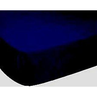 SheetWorld Fitted Oval (Stokke Mini) Sheet - Solid Navy Jersey Knit - Solid Colors