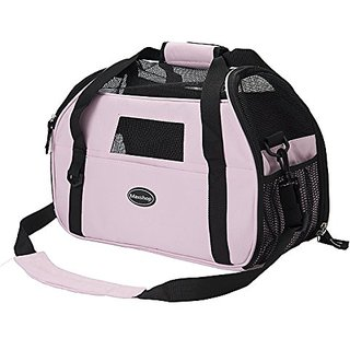 Maxshop Outdoor Portable Pet Carrier,Soft Sided Dog Cat Carrier Airlin Approved Travel Bag (Pink)