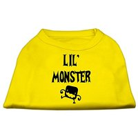 Mirage Pet Products Lil Monster Screen Print Shirts Yellow Med (12)