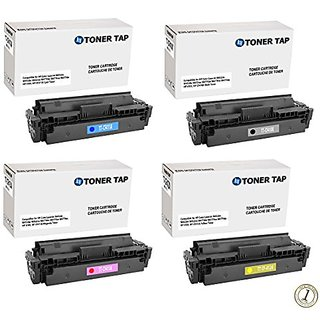 4-Pack Toner Tap (TM) Compatible for HP 410X CF410X CF411X CF412X CF413X For HP Color LaserJet M452dn M452dw M452nw M477