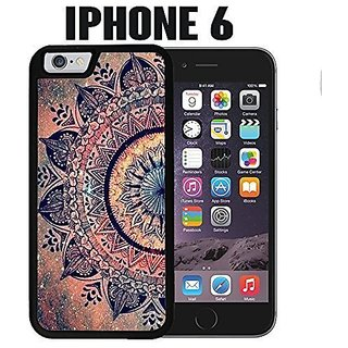 iPhone Case Mandala Datura Hippie for iPhone 6 Rubber Black (Ships from CA)