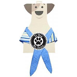 In Dog We Trust Coastal Bandana, Medium, Blue