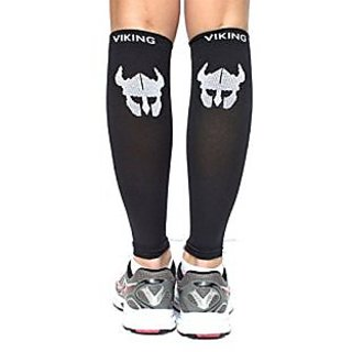 Calf Compression Sleeves - Leg Compression Sleeves, Shin Splints, Pain, Circulation, Travel, and Recovery - 1 Pair Leg S