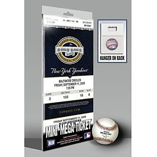 MLB Derek Jeter Breaks Yankees Hit Record Mini-Mega Ticket New York Yankees September 11, 2009