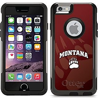 Coveroo Commuter Series Black Cell Phone Case for iPhone 6 - Retail Packaging - Montana Grizzlies Watermark