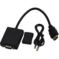 Blomiky HDMI To VGA Adapter Converter With Audio And Femail To Female HDMI Adapter For Mini PC And TV Box HDMI To VGA