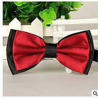 Best American Pet Bow - Handmade Dog/cat Bow Tie For Medium & Large Pets (Free Attached Soft Fabric Collar) Double Layer