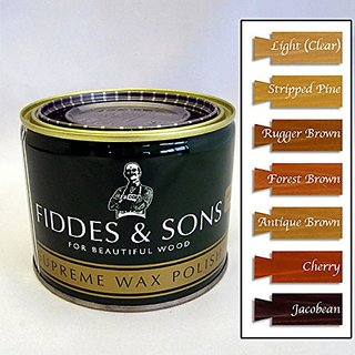 Fiddes & Sons Furniture Supreme Wax Polish - Antique Brown