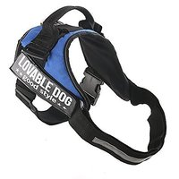PetsUp Easy Walk Premium Dog Vest Harness With Velcro Fit And Lift Handle For Training And Mobility (Blue, Large)