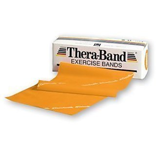 DSS Thera-Band Professional Resistance Bands 6-yard Box, Latex (Gold Resistance Level 7)