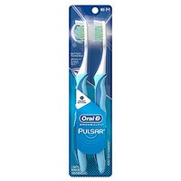 Oral-B Pulsar Medium Bristle Toothbrush Twin Pack, Colors May Vary