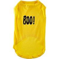 Mirage Pet Products Boo! Screen Print Shirts Yellow XL (16)
