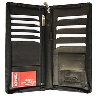 Genuine Leather Passport Ticket Holder - Style mw663CF