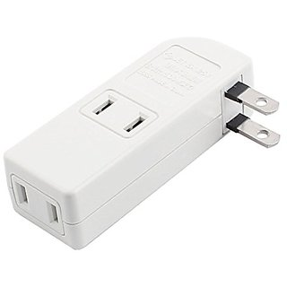 uxcell AC 125V 15A 1500W 1 US Plug to 4 US Socket Travel Power Adapter Convertor