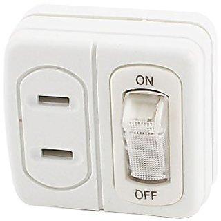 uxcell AC 125V 15A 1500W US Plug to 2 US Socket Power Adapter w Rocker Switch