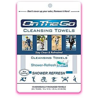 On The Go Towels Shower Refresh Large Shower Wipes