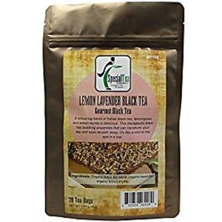 Special Tea Organic Gourmet Black Tea Bags, Lemon Lavender, 20 Count