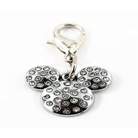 Fashion Pet Dog Cat Diamond Rhinestone Pendant Collar Tag Mouse Style