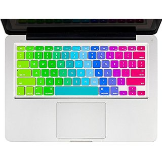 Crosstree New Colours and Rainbow Colour Keyboard Cover Silicone Skin for MacBook Pro 13 15 17 (with or without Retin
