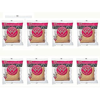 8 X Hario 02 100-Count Coffee Natural Paper Filters, 8-Pack Value Set (Total of 800 Sheets)