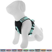 Pawtitas Reflective Dog Harness Padded Dog Harness Teal, XXS Extra Extra Small