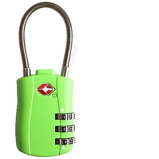 Travelsky 13324 TSA 3-dail luggage cable lock (green)