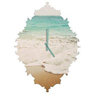DENY Designs Bree Madden Ombre Beach Baroque Clock, Small