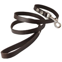 """4 Genuine Leather Classic Dog Leash Brown 5/8"""" Wide For Medium And Large Dogs"""