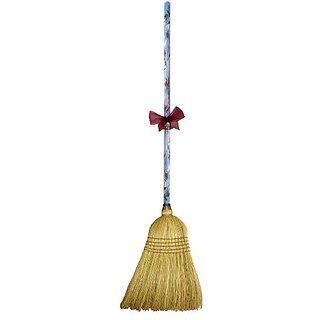 Cute Tools Garden Broom - Landscaping Instrument, Sweep and Dust With This Garden Accessory, Hand Painted Wooden Broomst
