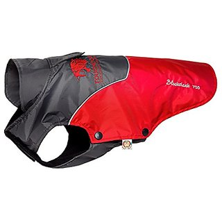 Touchdog Subzero-Storm Waterproof 3M Reflective Dog Coat w/ Blackshark technology, Red, Black, XL