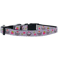 Mirage Pet Products Cupcakes Nylon Ribbon Collar For Pets, Small, Purple