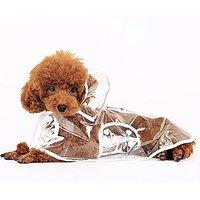 Lovely Baby Cute Pet Apparel Dog Raincoat Waterproof Puppy Rainwear Coat Transparent Rainwear Clothes LY-Raincoats001-XL