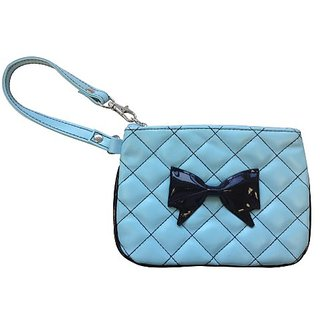 Ruff Ruff Couture Coco Bow Wrist Clutch for Pets, Sky Blue