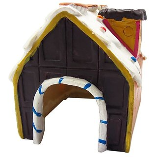 Alfie Pet by Petoga Couture - Small Animal Hideout - Chocolate Cake Hut (Living Habitat for Dwarf Hamster and Mouse)