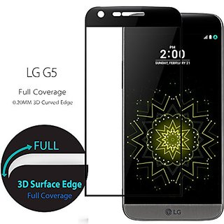 CONMDEX LG G5 Screen Protector 3D Full Cover Tempered Glass Screen Protector for LG G5 Invisible Shield Anti-Scrath Anti