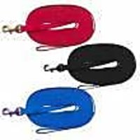 Coastal Pet Products 00515 RED15 Train Right! Cotton Web Dog Training Leash Red, 15 Ft