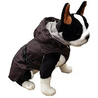 One For Pets All Season Dog Coat With Removable Fleece Lining, 20-Inch, Brown