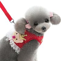 Alfie Pet By Petoga Couture - Alison Step-in Harness And Leash Set - Color: Red, Size: Small