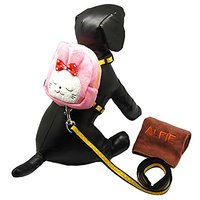 Alfie Pet By Petoga Couture - Cara Backpack Harness With Leash And Microfiber Fast-Dry Washcloth Set - Style: Pink Rabbi