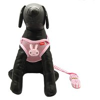 Alfie Pet By Petoga Couture - Pela Step-in Harness And Leash Set - Color: Pink, Size: Medium