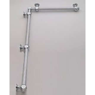 Jaclo G20-16-36-IC-PCU 90 Degree Smooth with Finials Grab Bar, Polished Chrome, 16
