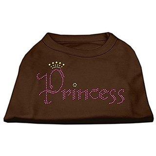 Mirage Pet Products Princess Rhinestone Pet Shirt, X-Small, Brown