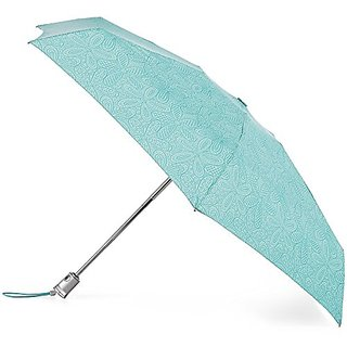 Totes Micro AOC Umbrella - 4 Section, Blue Floral Burst, One Size