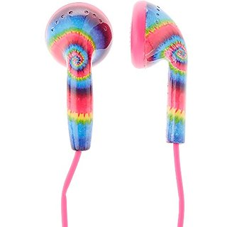 Claires Accessories Funky Tie Die Earbuds