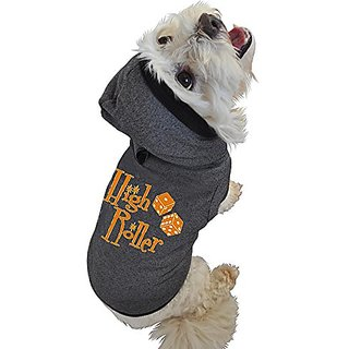 Ruff Ruff & Meow Dog Hoodie, X-Large, High Roller, Black