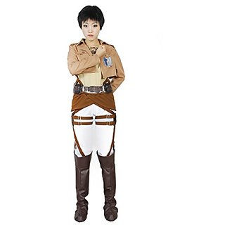 Milica Books Attack on Titan/The Survey Corps Eren Yeager Cosplay Costume-Size M